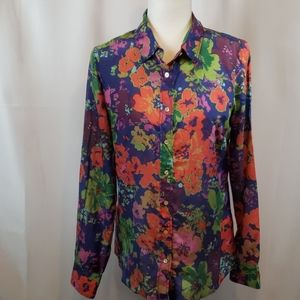 J.Crew the perfect shirt floral inspired size 6
